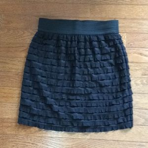 One Clothing Ruffled Pencil Skirt